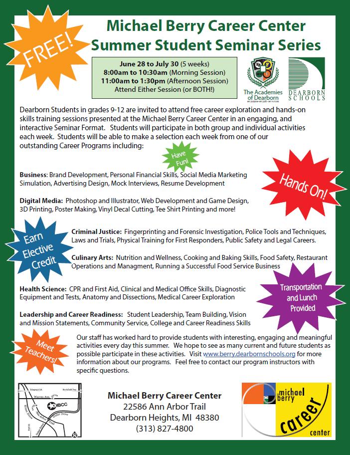 FREE Summer Enrichment Program at MBCC!!