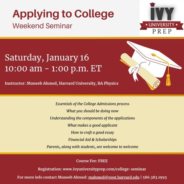 How to apply to college webinar