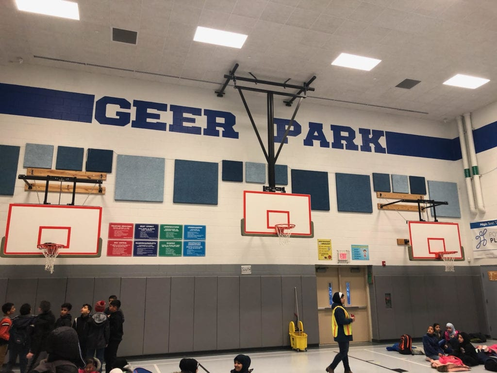 New School Murals in the Gym