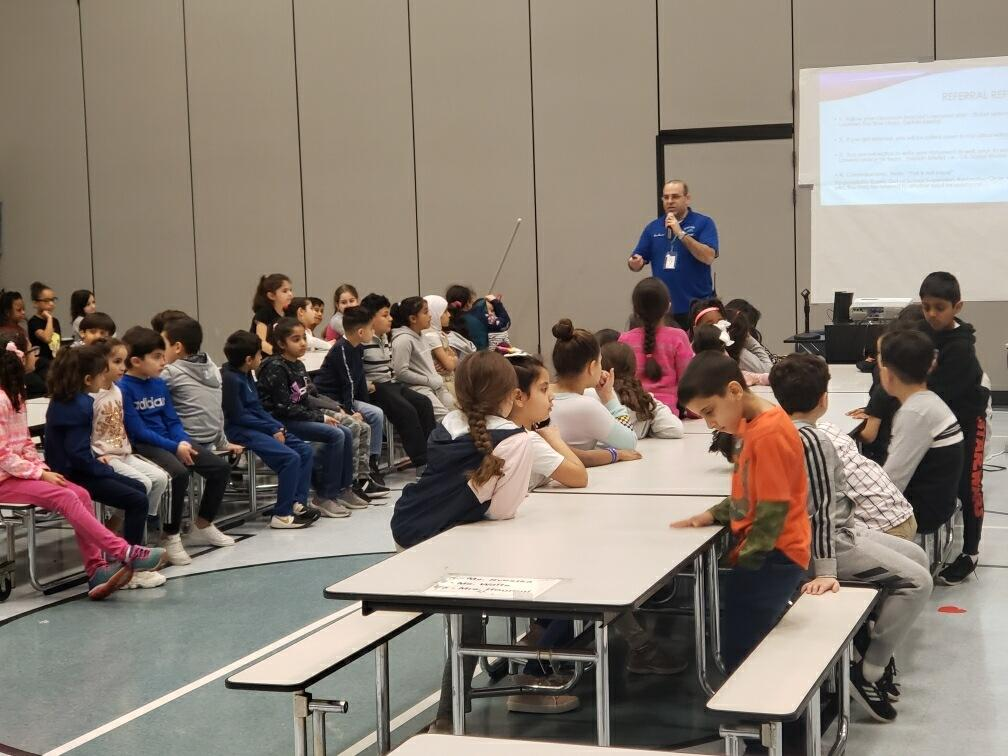 Student Grade Level Assemblies presented by Mr. Lawera