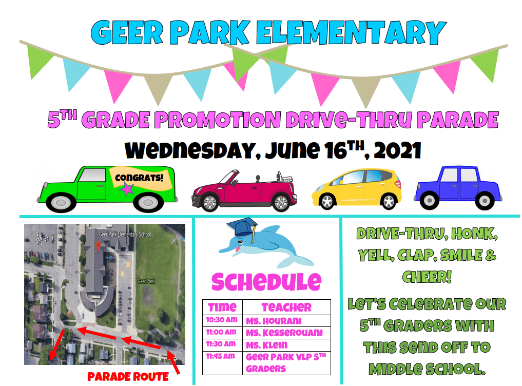 5th Grade Promotion CORRECT FLYER