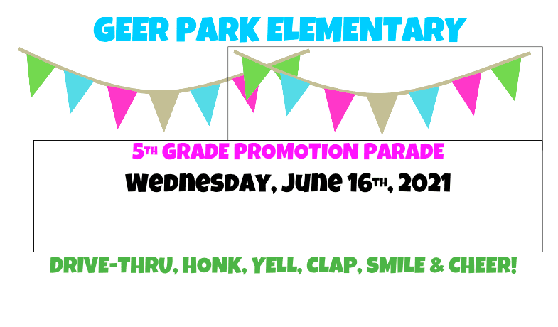 5th Grade Promotion Wednesday at 10:30