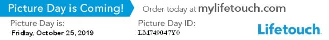 Picture Day is October 25