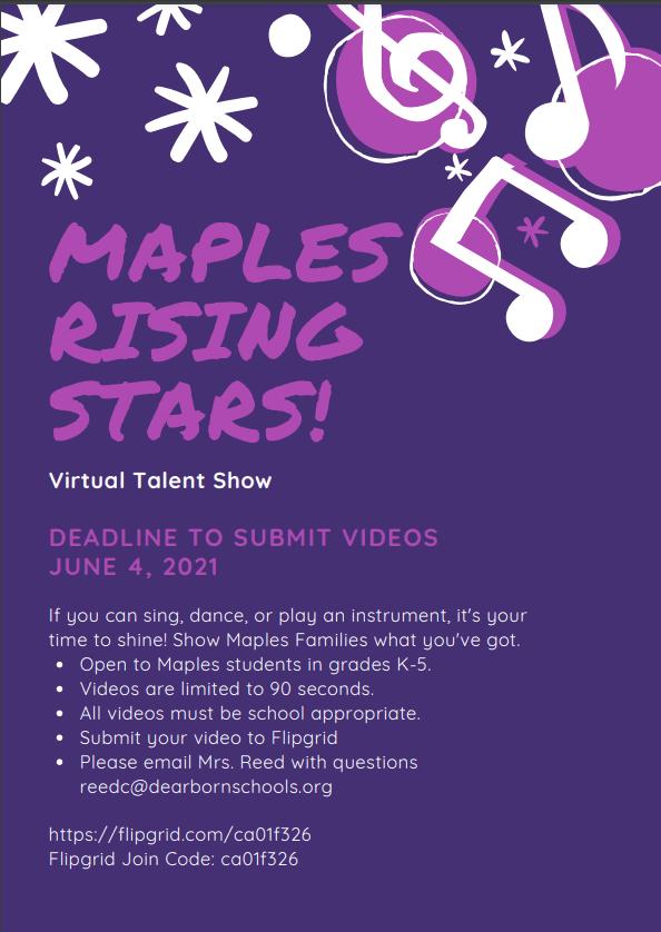 Maples Virtual Talent Show