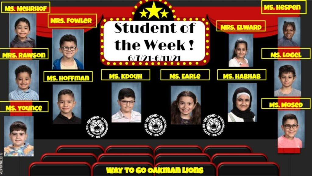 Student of the Week 6/7/21-6/11/21