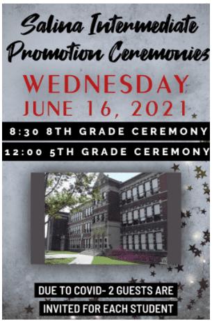 Salina Promotion Ceremonies- Wednesday June 16