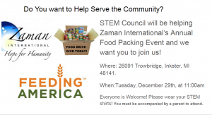 Reminder: Community Service Opportunity