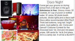 Disco Night UPDATE TIME CHANGE