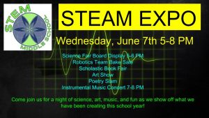 Tonight is the STEAM EXPO!