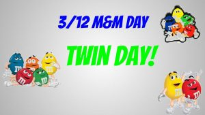 Spirit Week is Next Week! Monday is M&M Day