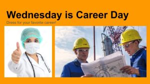 Spirit Week: Wednesday is Career Day