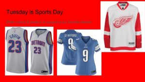 Tuesday is Sports Day