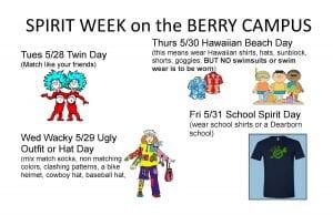 Spirit Week 5/28-5/31