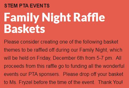 STEM Family Night PTA Baskets