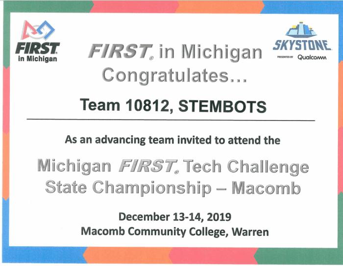 Congrats STEMBOTS!