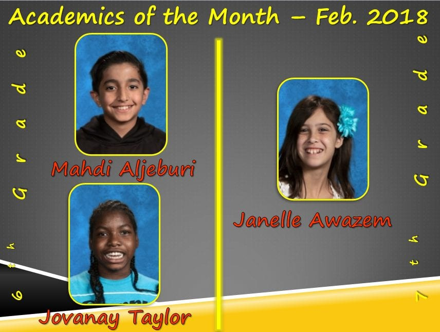 Academics of the Month for February 2018