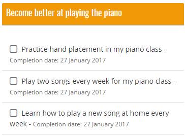a student's plans