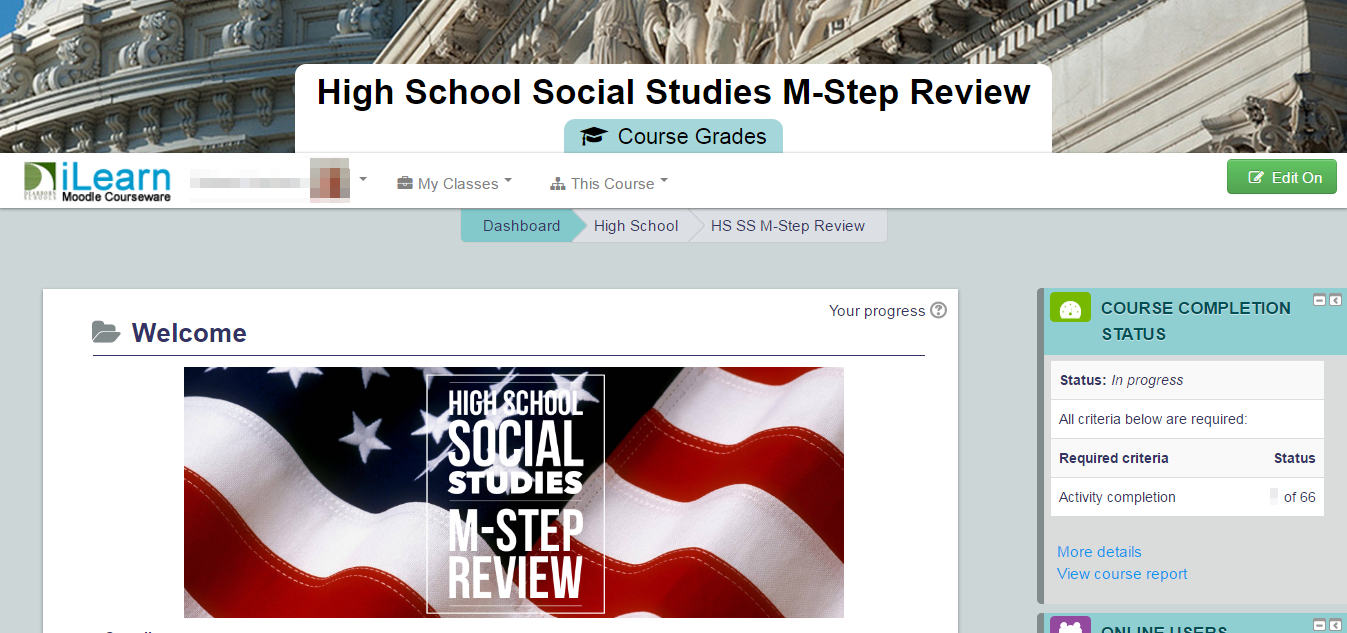High School Social Studies M-Step Review iLearn Course