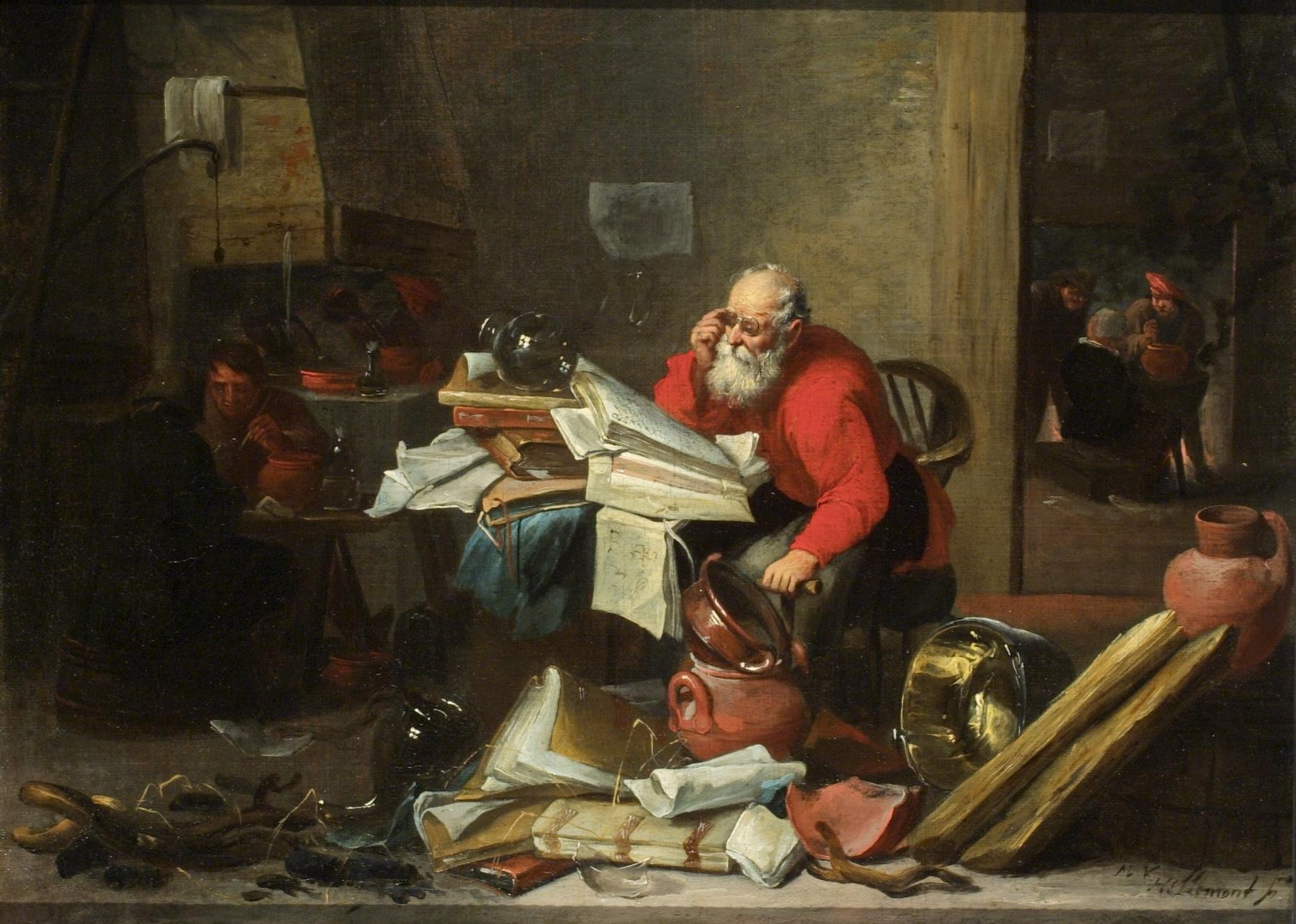 """Mattheus van Hellemont """"The Alchemist"""""""