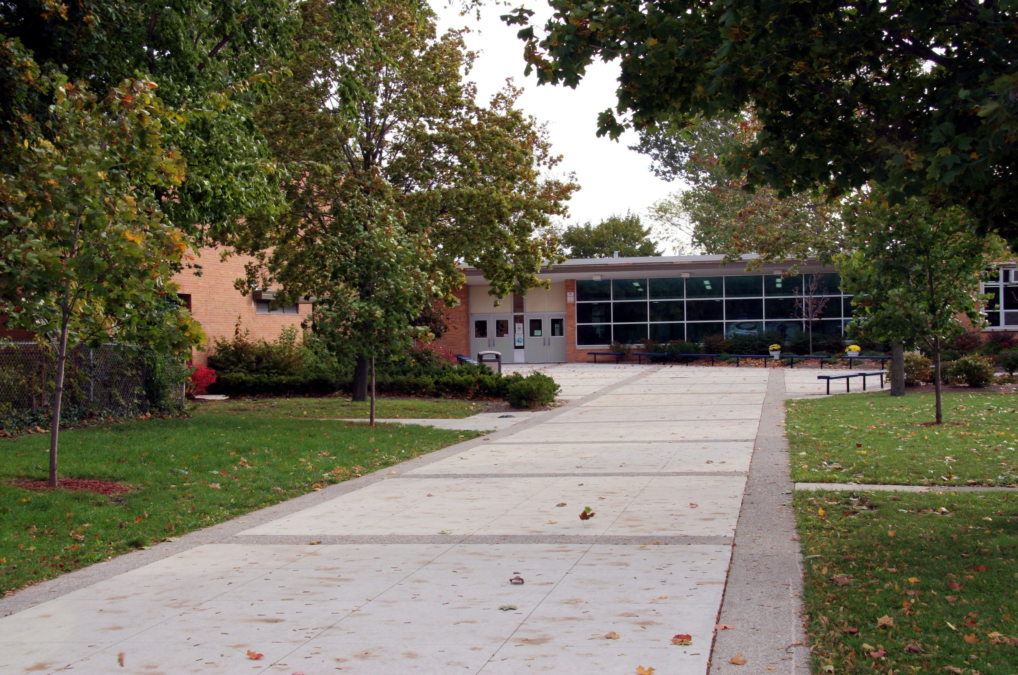 front walkway of Bryant Middle School