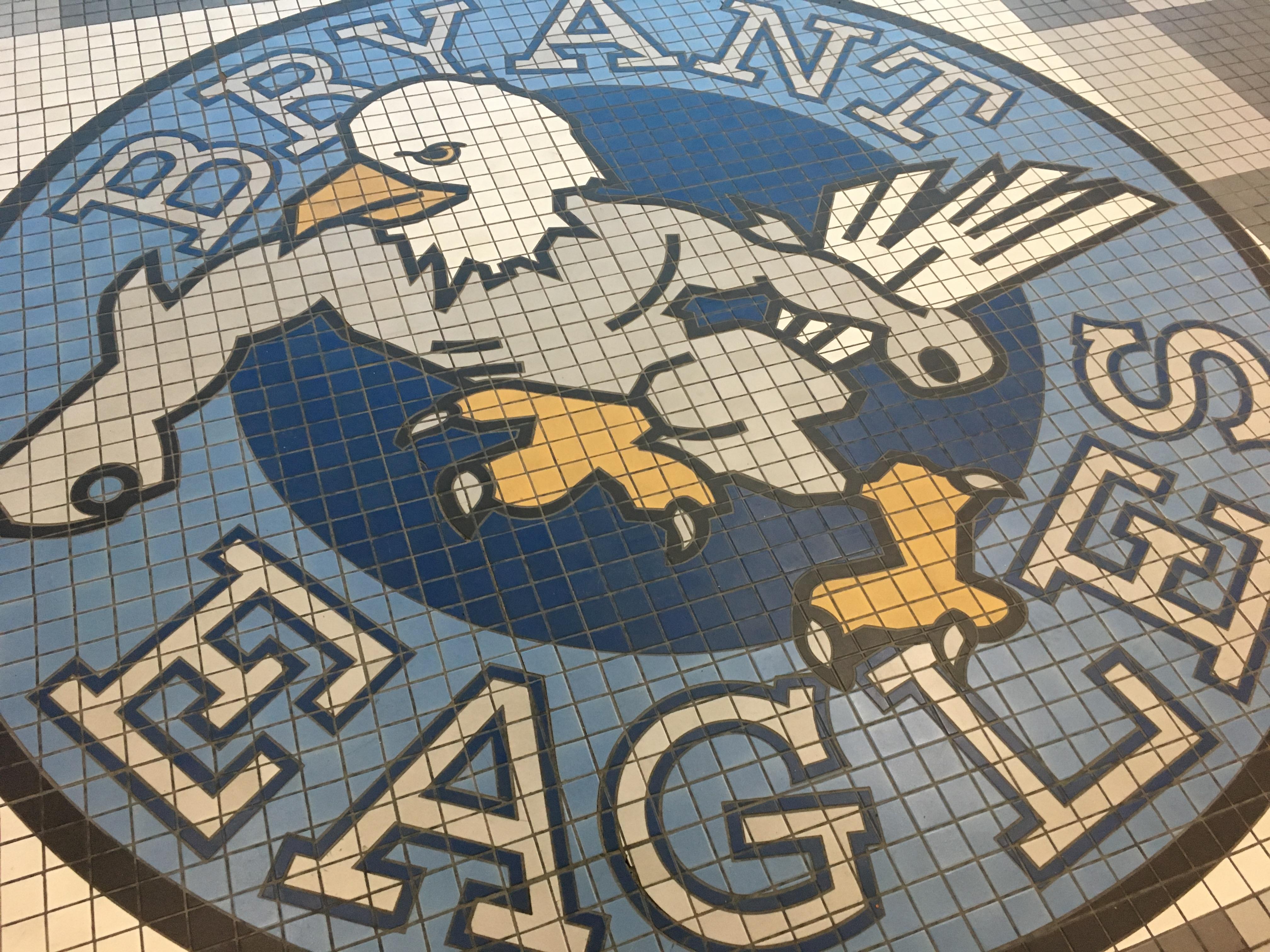 Bryant eagles logo tile mosaic